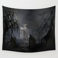 returns Wall Tapestries featuring Darkness Comes Miss Piggy Returns by apgme