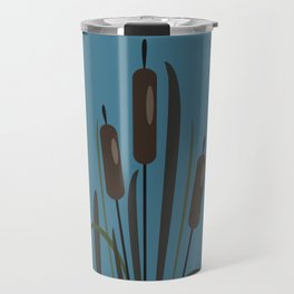 Bush of Swamp Reed on a Lake Travel Mug
