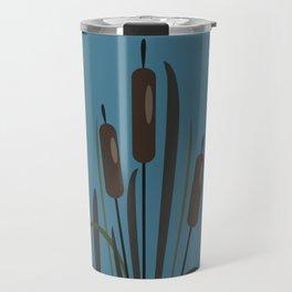 Bush of Swamp Reed on a Lake Travel Mug