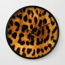 Faux Leopard Skin Pattern Wall Clock