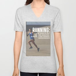 Runners High Running Is Awesome Unisex V-Neck
