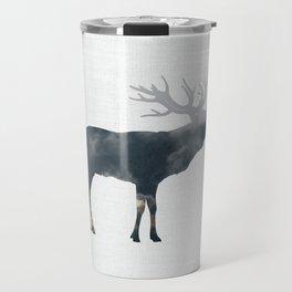 Elk and Mountains Travel Mug