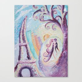 Permanence in Paris - Abstract painting Canvas Print