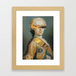 73/365 Ten Minute Collage Framed Art Print