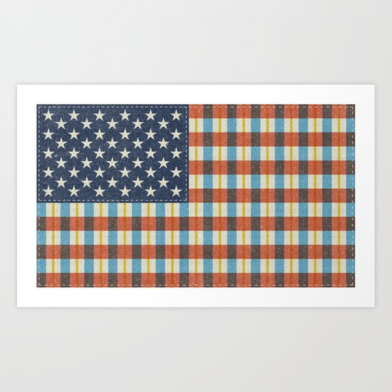 Plaid Flag. Art Print