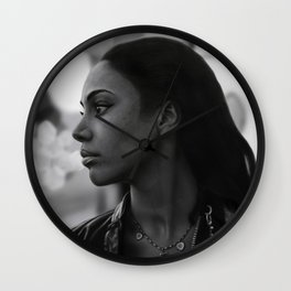 Woman in Harlem Wall Clock