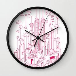 Kuala Lumpur (Red ver.) Wall Clock