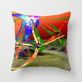 Attack of the Space Demons 2nd Wave Throw Pillow