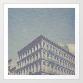 New York City in Blue II Art Print
