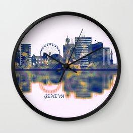 Geneva Skyline Wall Clock