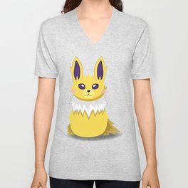Evolution Bobbles - Jolteon Unisex V-Neck