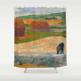 Seaweed Gatherer - Le ramasseur de goémon by Paul Sérusier Shower Curtain