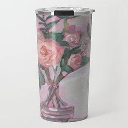 Pops of Hot Pink Florals Travel Mug
