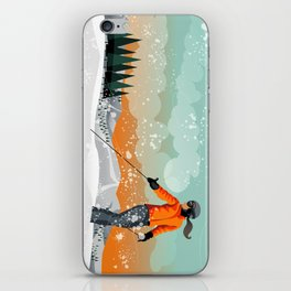 Skier Looking iPhone Skin