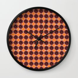 fire fighter graphic art quilt Wall Clock