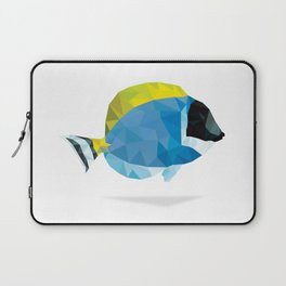 Geometric Abstract Powder Blue Tang Fish Laptop Sleeve
