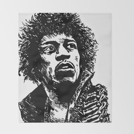 Jimi Hendrix Pop-Art Throw Blanket