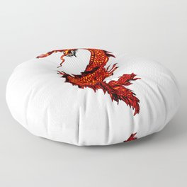 Mythical Red Dragon Floor Pillow