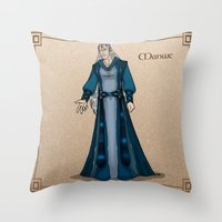 valar morghulis Throw Pillows featuring Manwe by wolfanita