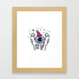 Partying Astronaut Framed Art Print