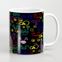 faces Mugs featuring Faces by LoRo  Art & Pictures