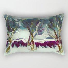 3 Winter Trees Deep Maroon Purple by CheyAnne Sexton Rectangular Pillow