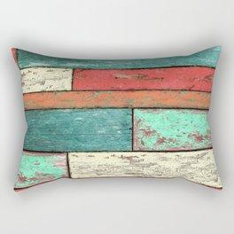 Cubic Wood 2 Rectangular Pillow