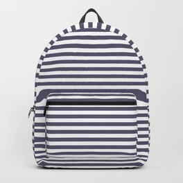 minimal, stripes, horizontal blue and white Backpack
