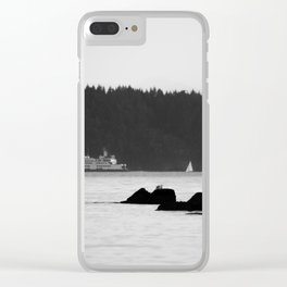 Ferry at the San Juan Islands Clear iPhone Case
