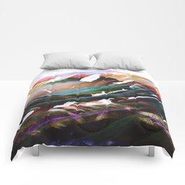 Abstract Mountains II Comforters