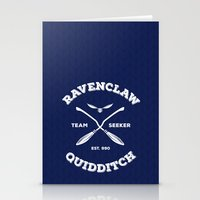 quidditch Stationery Cards featuring Ravenclaw Quidditch Team Seeker: Blue by Sharayah Mitchell