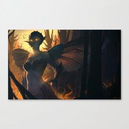 Like a moth to the flame Canvas Print