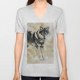 Timber Wolf Unisex V-Neck