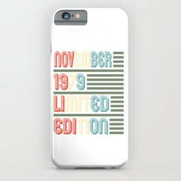 November Cool Vintage Retro Birthday Gift For Your Wife And Husband For Their 40th Birthday Natal iPhone Case
