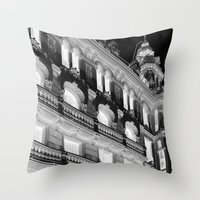 real madrid Throw Pillows featuring Madrid by Kellabell9