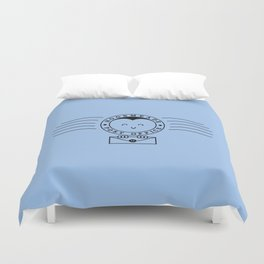 Cute Hogsmeade Post Office Stamp Duvet Cover