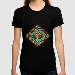 Scrolls and Sapphire Tiles T-shirt