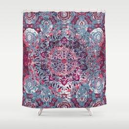 Vintage Boho Burgundy Mandala Shower Curtain