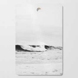 Minimalist Black and White Ocean Wave Photograph Cutting Board