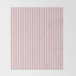 Mattress Ticking Narrow Striped USA Flag Red and White Throw Blanket