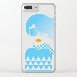 I Like Patterns on a Windy Day Clear iPhone Case