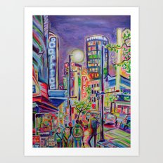 Granville At The Warehouse, Vancouver Art Print