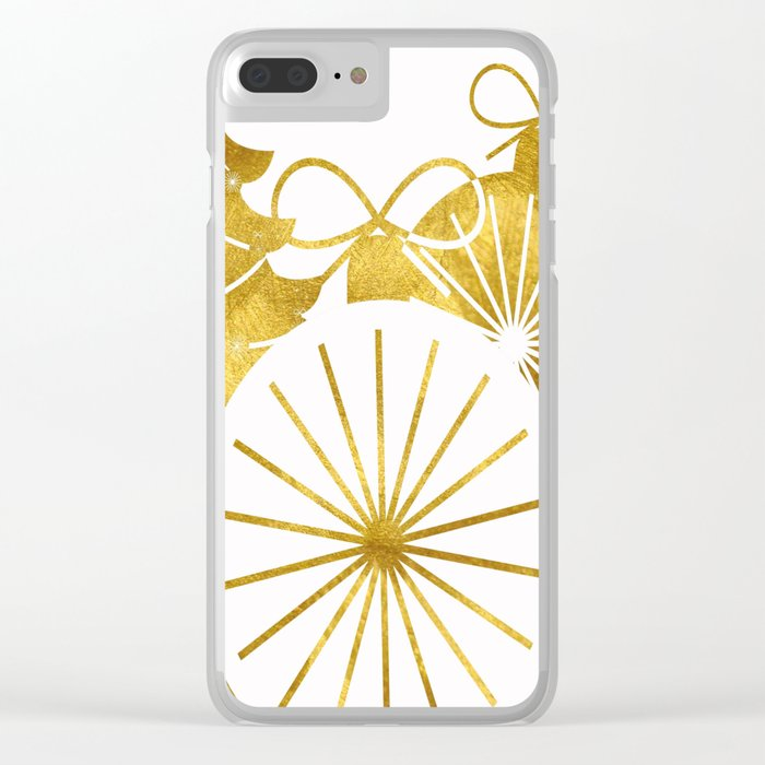 Gold Christmas 01 Clear iPhone Case