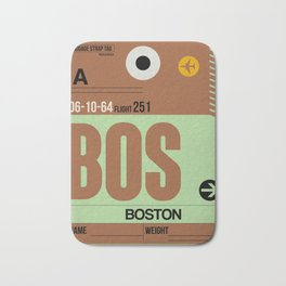 BOS Boston Luggage Tag 1 Bath Mat