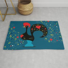 Good Luck Rooster of Barcelos Rug