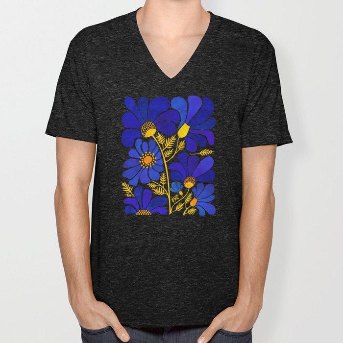 The Happiest Flowers Unisex V-Ausschnitt