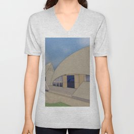 Building Of The Future From A Forgotten Past Unisex V-Neck