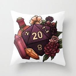 Sorcerer Class D20 - Tabletop Gaming Dice Throw Pillow