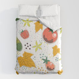 Cucumbers and Tomatoes Comforters