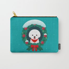 Christmas Bichon Carry-All Pouch